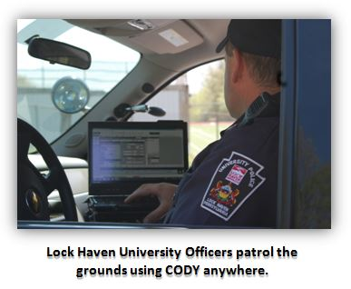 lock haven university uses CODY software anywhere