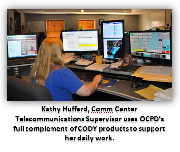 Kathy Huffard uses CODY Dispatch, GIS/AVL Mapping