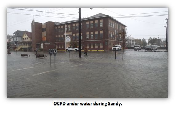 Ocean City New Jersey PD under water